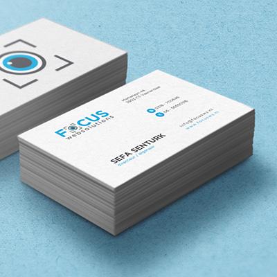 Focus Websolutions visitekaartje ontwerp