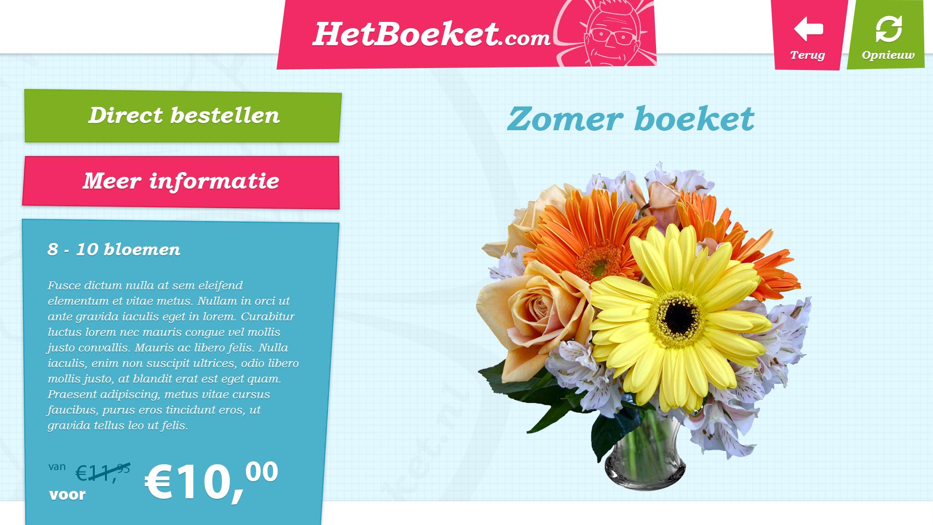 Bloemen bestellen schermafbeelding