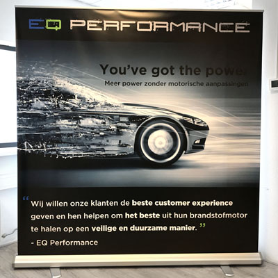 EQ Performance rull-up banner